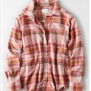 American eagle oversized flannel NWT